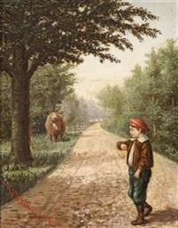jeune garçon marchant by victor dubreuil