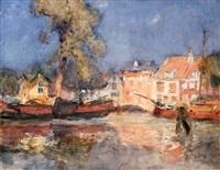 casas en el canal, harlem by george owen wynne apperley