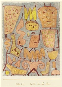 geister des theaters (spirits of the theatre) by paul klee