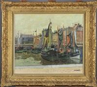 bateaux à quai by gustave camus