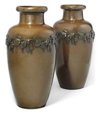 vases (pair) by j.p. kayser & sohn