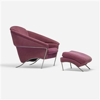 boldido lounge chair and ottoman by milo baughman