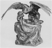 woman and angel by charles john allen