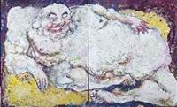 bouddha rieur (diptych) by rémy gastambide (nguyen bac aï)