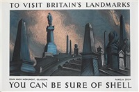 to visit britain's landmarks, john knox monument, glasgow, you can be sure of shell (poster) by posters: advertising - shell oil
