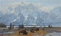 mt. moran by don ricks