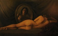 reclining nude by william ewing