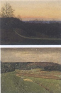 schwäbische landschaft by otto gross