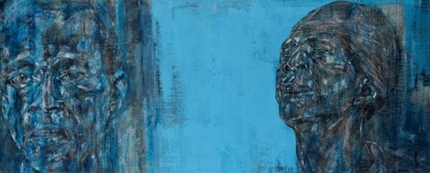 two black men by leon golub
