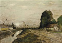 landscape with canal by henry golden dearth