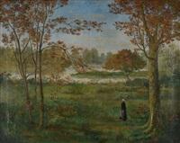 bretonne dans la prairie by armand seguin