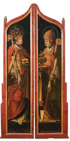 saint nicolas de bari et saint rupert triptych by hans maler