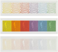 jack/spectrum ek/spectrum i and ek/spectrum ii (3 works) by ellsworth kelly