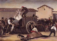 el patio de caballos (after the fight) by leonardo alenza y nieto