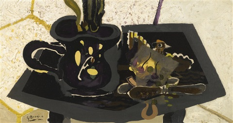 nature morte au couteau by georges braque