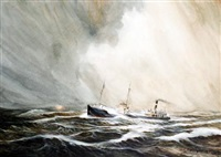 the coaster bally kearn, force 9 irish sea by brian richard entwhistle