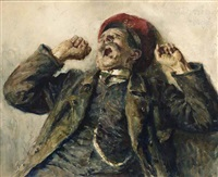 a man yawning by heinrich rettig