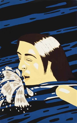 olympic swimmer susan 2 works by alex katz