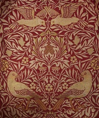 cushion covers in bird pattern (5 works) by william morris
