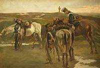 rastende preußische gardisten by robert von haug