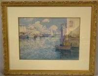 venetian canal scene, les martigues by antoine ponchin