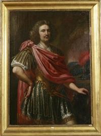 ritratto di condottiero con manto rosso by ferdinand bol