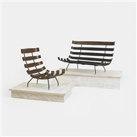 chair and settee (pair) by martin eisler and carlo hauner