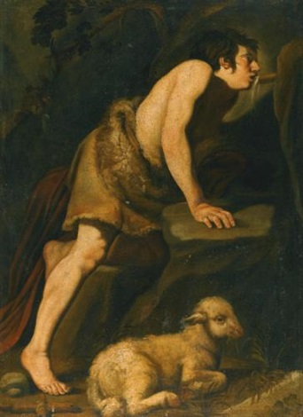 saint john the baptist drinking from a spring by michelangelo merisi da caravaggio