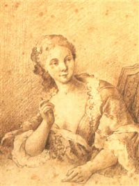 sittande kvinna by jacques-andré portail