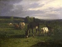 paisaje con ganado by andrés cortés y aguilar