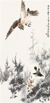 鹰逐图 by jiang hanting