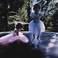 lily & isabel on trampoline by nan goldin