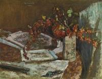 bouquet de fleurs sur une table by pierre bonnard
