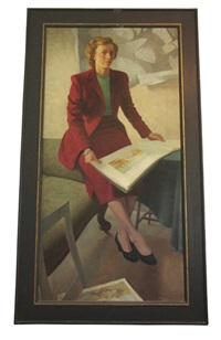 lady in two piece suit (the artist's wife) by ian eadie