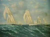 the new york yacht club regatta by william torgerson