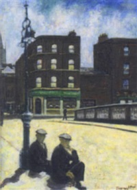 figures seated on church street bridge by diarmuid boyd