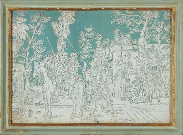 scenette di genere 10 works by italian school piedmont 19