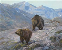 grizzlies by fred cameron