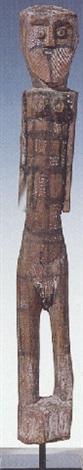 untitled female figure by micky geranium warlpinni