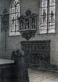 kerkinterieur by xavier mellery