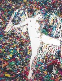 cupid, after caravaggio (rebus series) by vik muniz