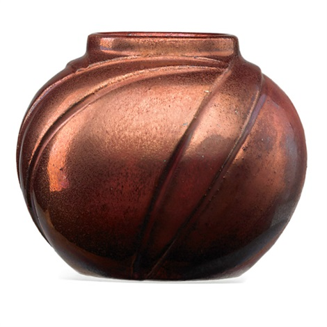 cabinet vase in oxblood by newcomb college pottery