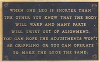 the living series: when one leg is shorter than the other by jenny holzer