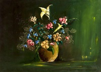 bouquet vert by anne fioux