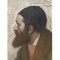 portrait of a rabbi by edouard moyse