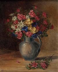 alpenblumen in krug by maria kistler