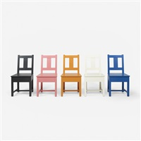 simple chairs, set of five by roy mcmakin