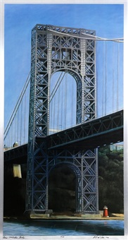 george washington bridge by richard haas