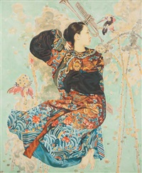 femme au kimono by wang junying