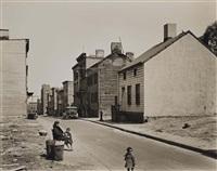 talman street, between jay and bridge streets, brookly, ny, may 22nd by berenice abbott